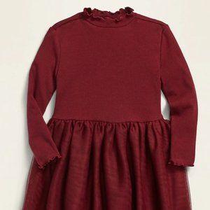 Old Navy Long-Sleeve Rib-Knit Tutu Dress